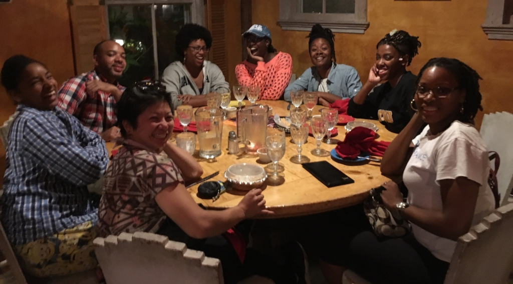 PURPOSE Production team enjoys dinner following the 2017 Organizers Retreat.